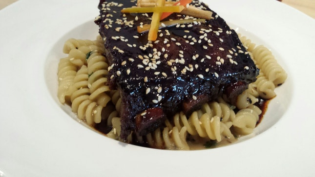 Smoked Char Siew St Louis Ribs With Pineapple Fusilli 31.9+