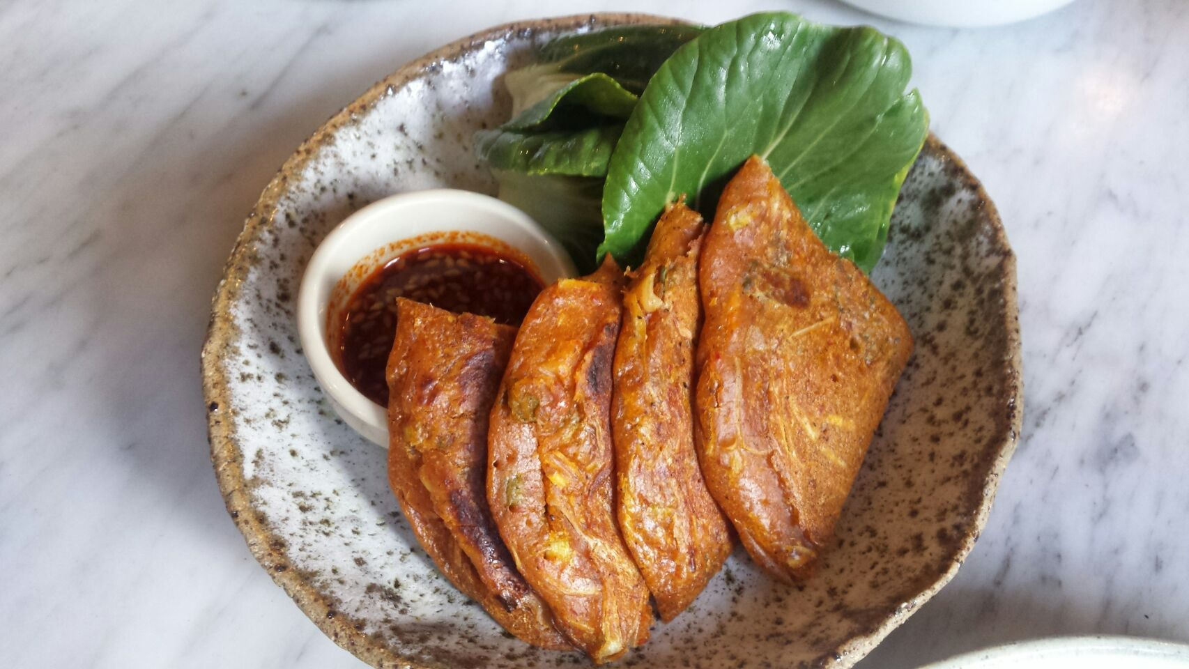 Complementary Kimchi Pancake