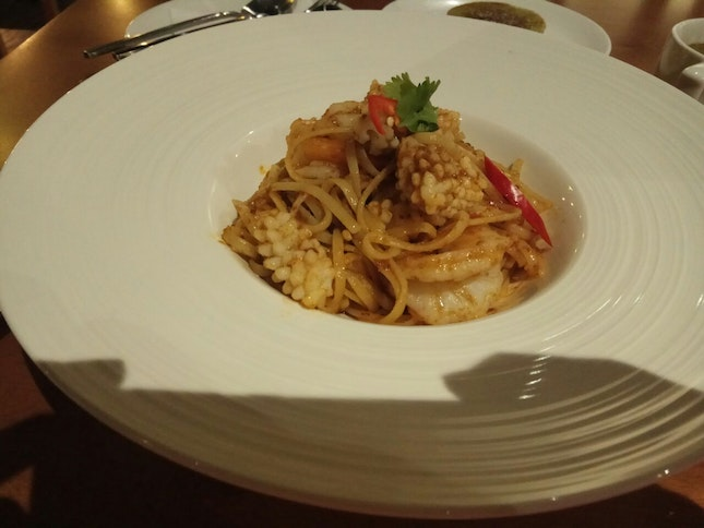 Spicy Balacan Seafood Linguine (Part Of Set Lunch) 8.8++