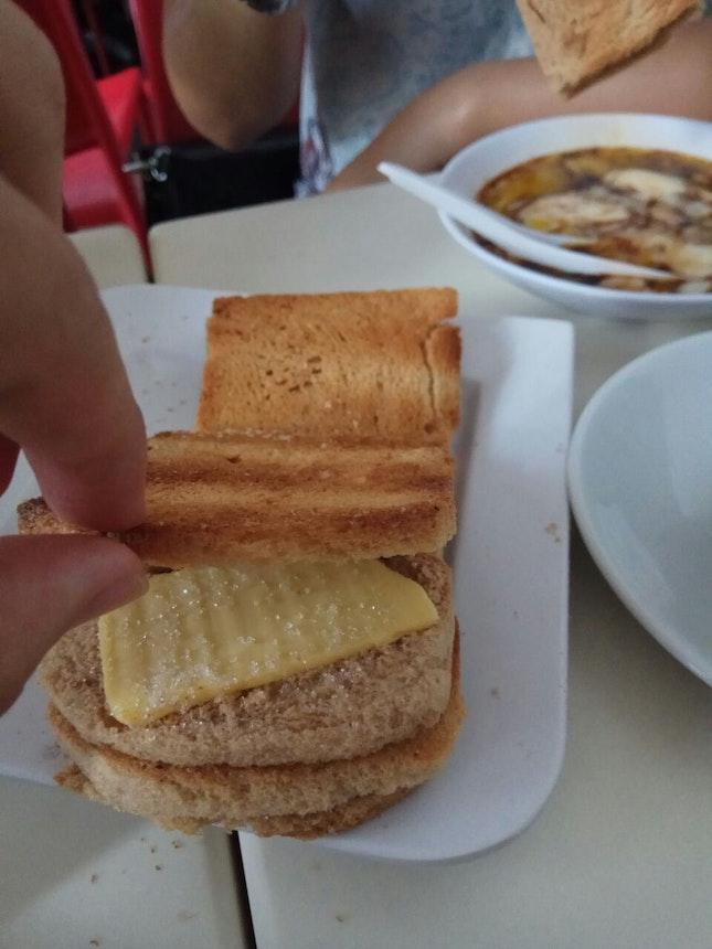Butter toast w sugar