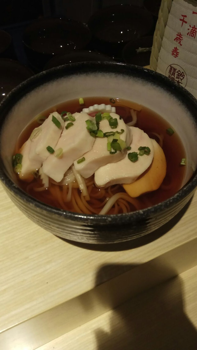 Sous Vide Chicken Breast W Udon And Comsomme