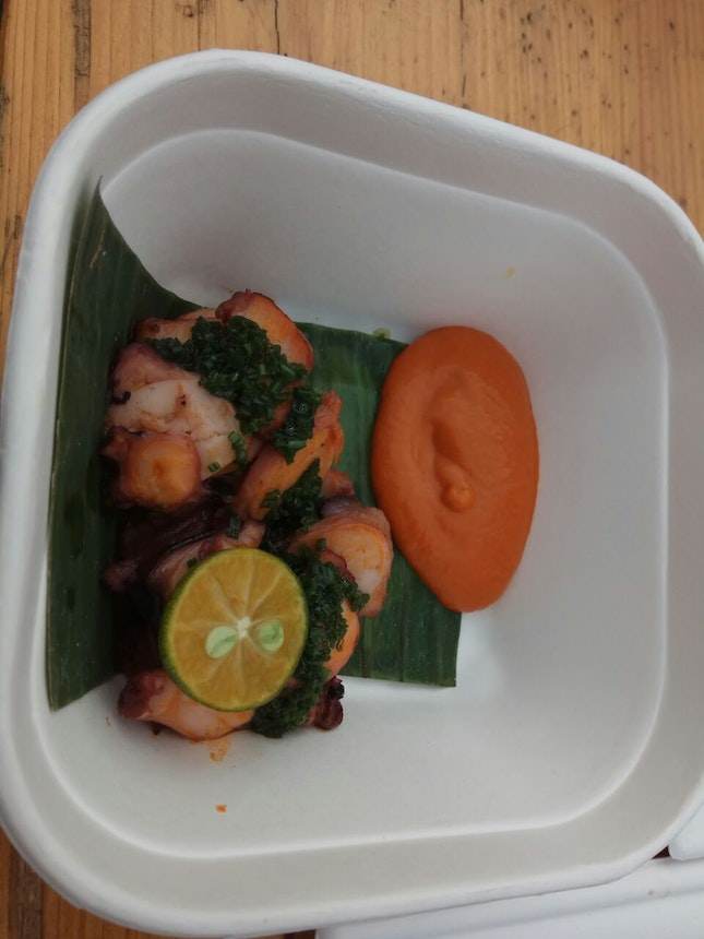 Grilled Octopus With Special Indian Rojak Sauce 13nett(Streat 2018)