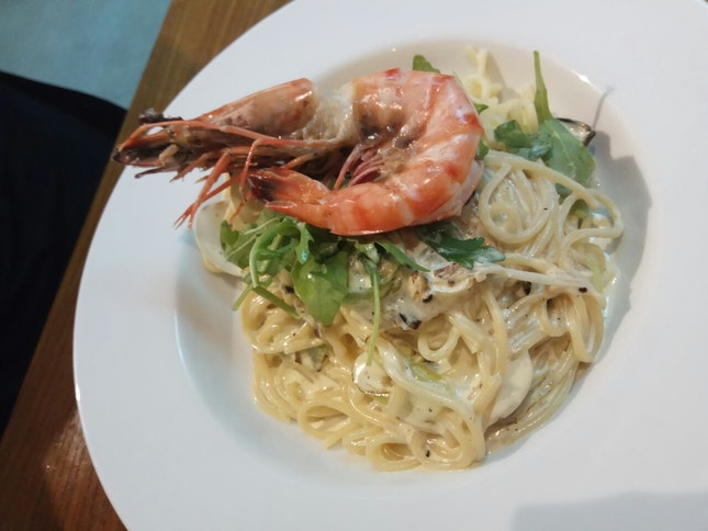 Seafood Cream Pasta 14nett(Used Beyond)