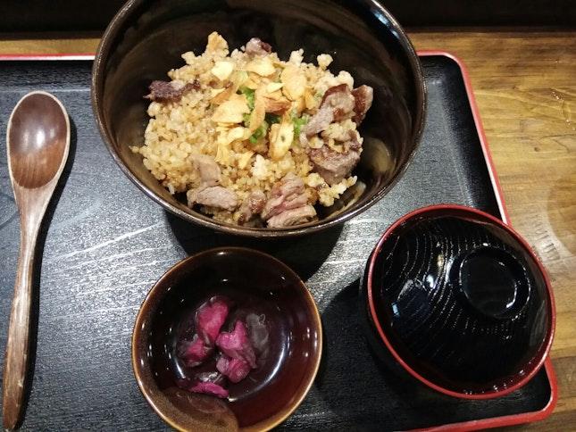Beef Fried Garlic Rice 18++