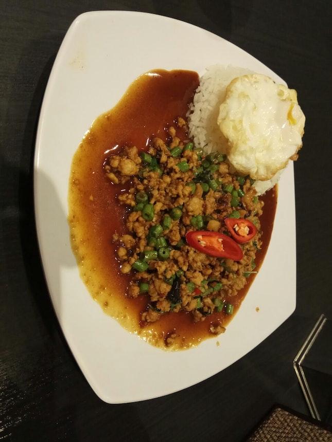 Basil Pork Rice Upsize 5.9nett +1nett
