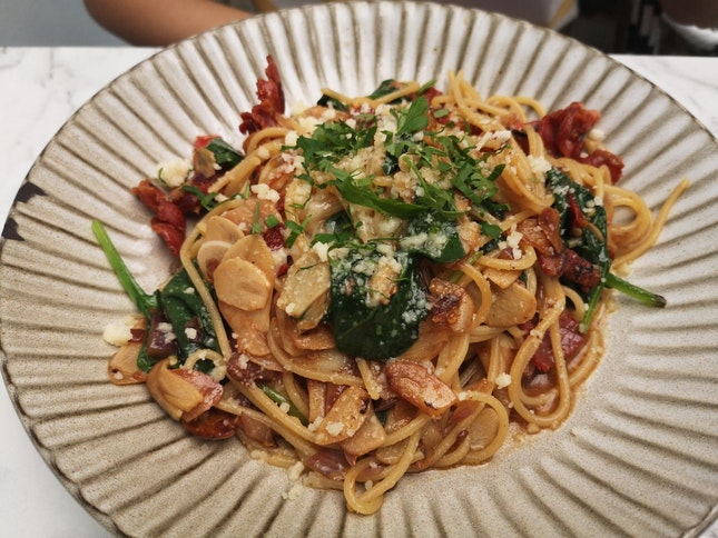 Aglio Olio 17+svc Only, Add On Bacon +3+(svc Only)