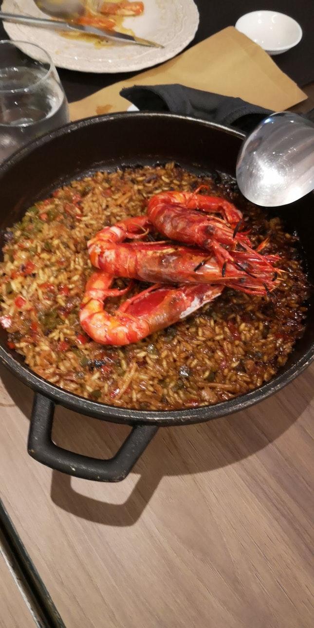 Seafood Paella W Carabinero Prawns 42++ Add On Carabinero +14++ Per Prawn