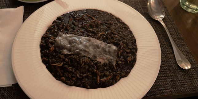 Squid Ink Risotto 38++