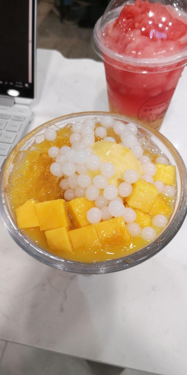 Mango Crystal Jelly 5.9nett +Yoghurt Balls 1nett
