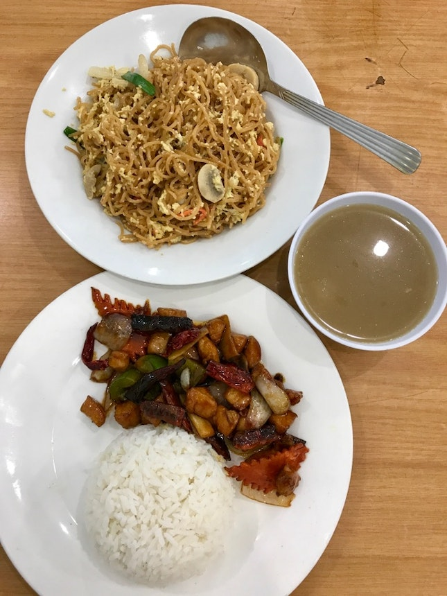 House Specialty Noodle (RM8), Kung Po Chicken Rice (RM8.5)