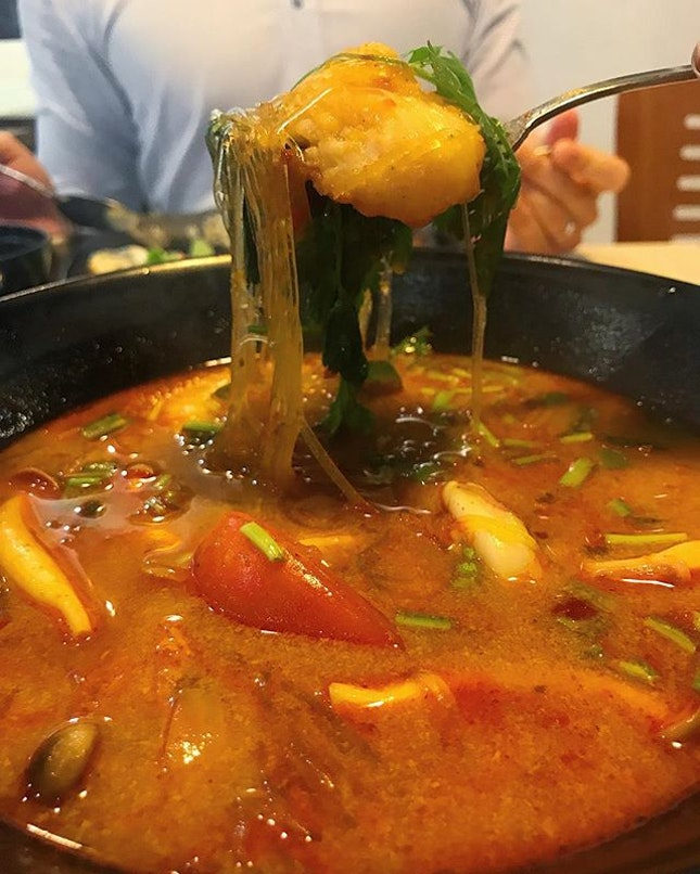 Focus of the pic is the Tom Yum Mama Seafood Vermicilli.
