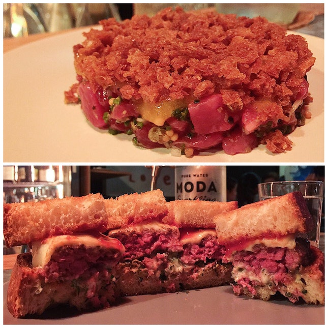 Beef Tartare & Patty Melt