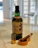 A nice bottle of Hakushu 18 yrs single malt and an aged Habana cigar to start the evening at 28@wilkie is always a good idea#burpple #italianfood #28wilkie #torcianowinery #italianrestaurantsingapore #hoyodemonterrey #havannacigarr