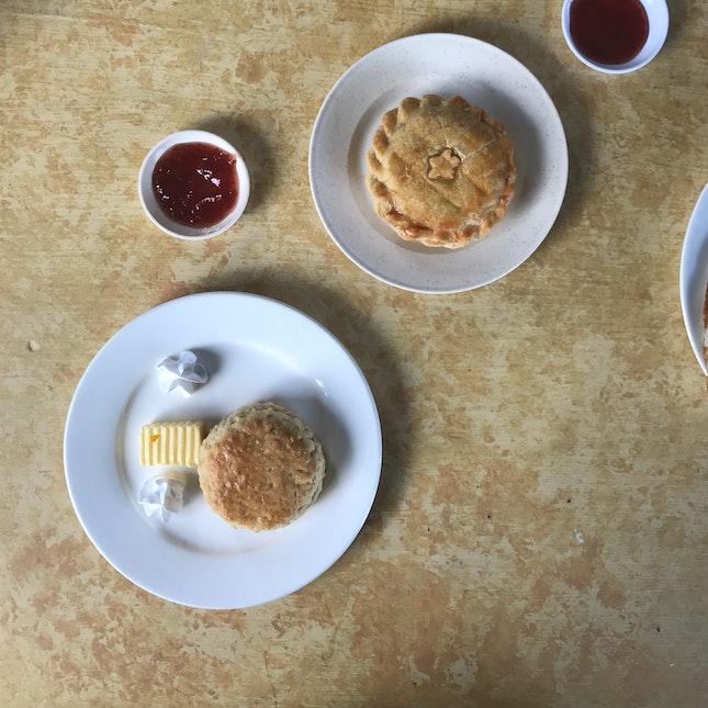 Scones & Chicken Pie