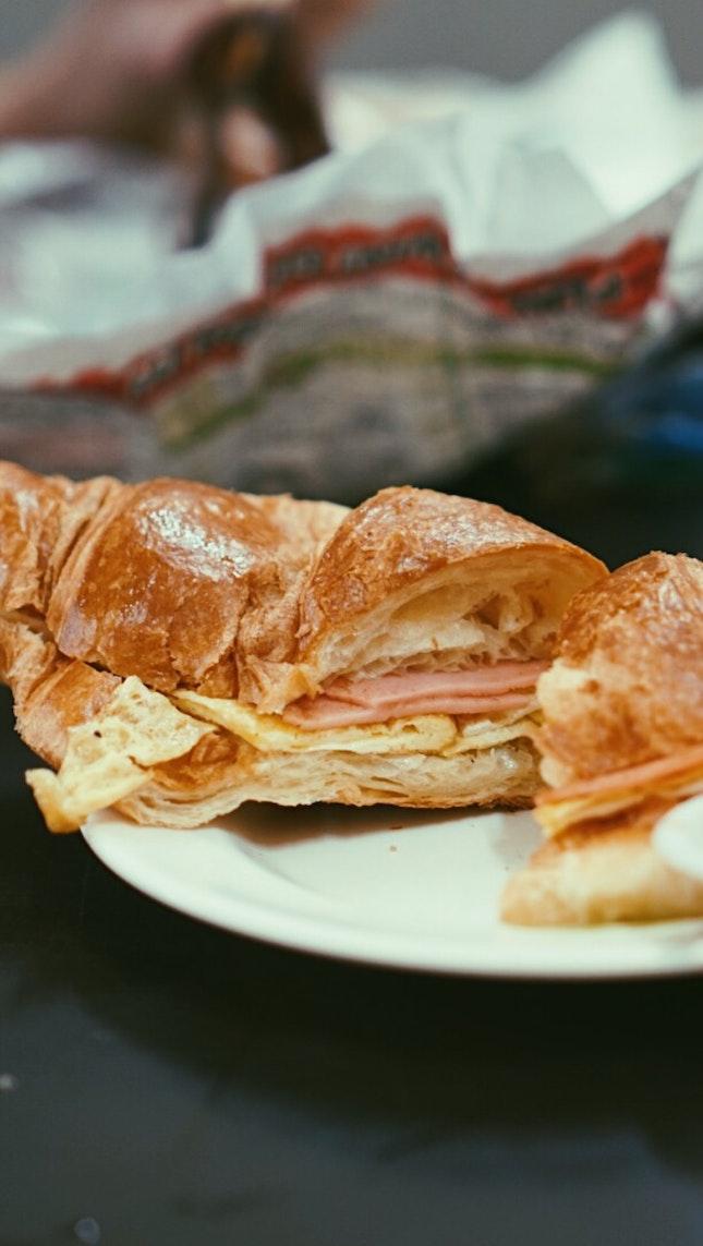 Egg & Ham Croissant