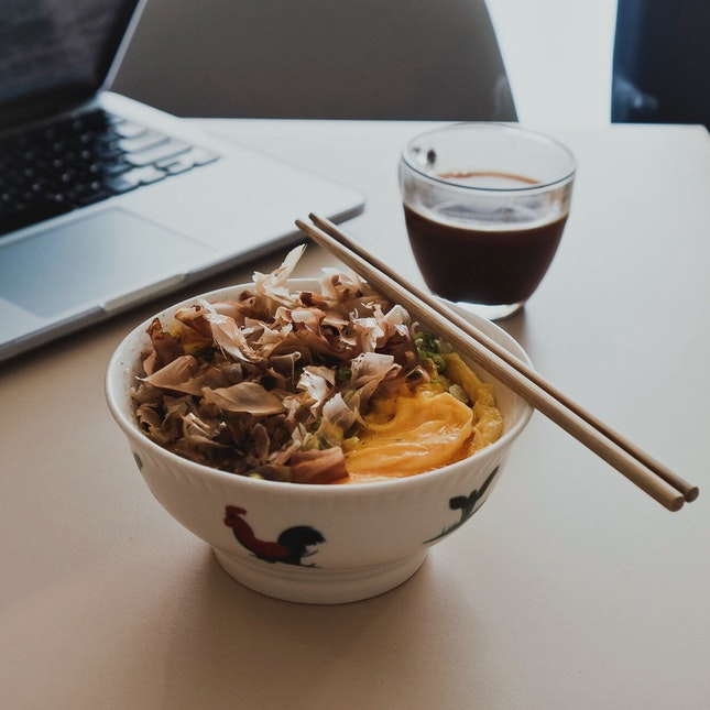 Minced Pork Rice Bowl (RM13) and Long Black (RM8)
