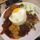Nasi Lemak With Sambal Sotong