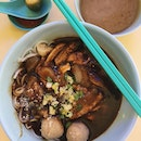 Sliced beef + beef ball + stomach + tendon noodles S$6  Tried this once when I was sent nearby for work.