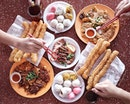 """Great formula to a great start of a day for a foodie - having awesome local food with bunch of foodies coupled with laughter, jokes and everyone saying """"eat more, eat more""""."""