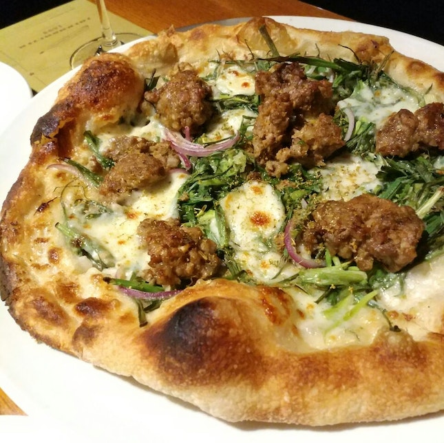 Fennel Sausage Pizza ($29++)