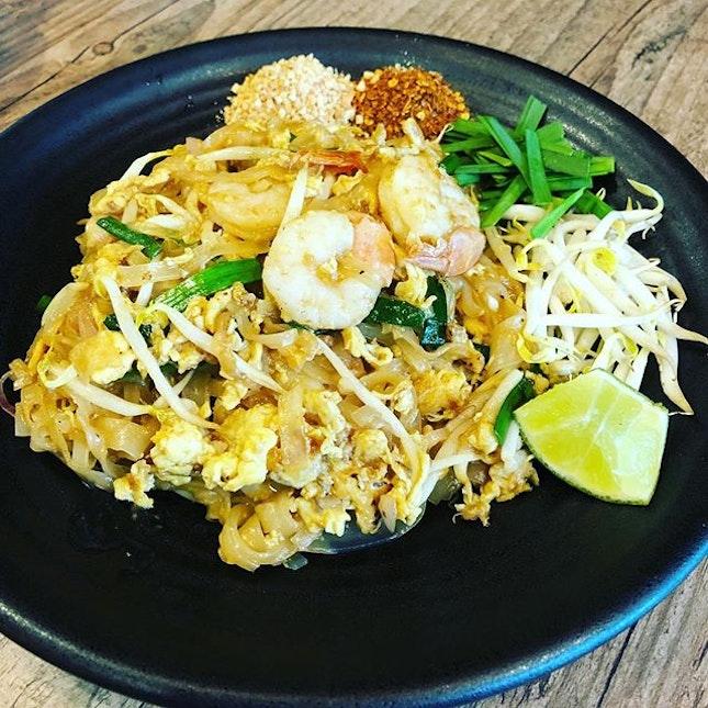 Delicious phad thai from Siamese cat .
