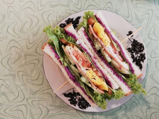 Purple Sweet Potato Sandwich (Rm11.50)