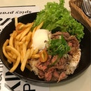 Signature Rice & Fries Bowl - Grilled Beef