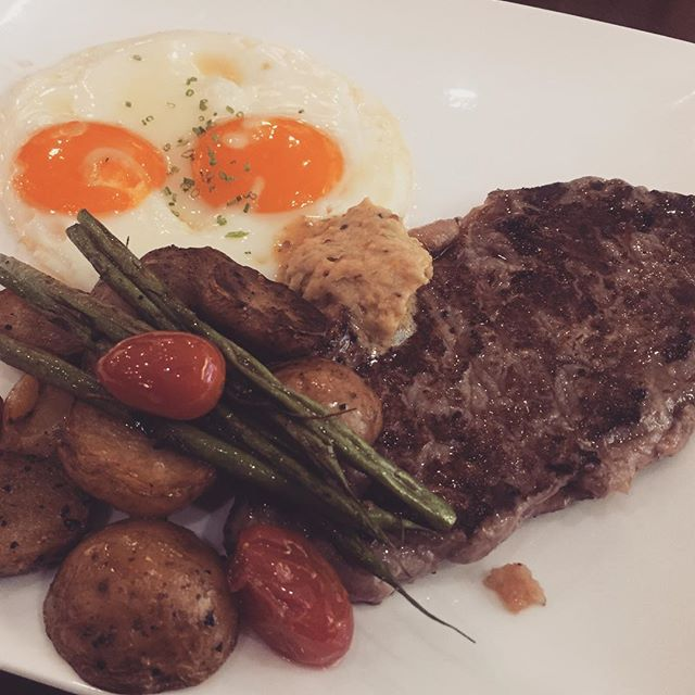 Enjoyed #50percentoff at #tcc on this steak and eggs.