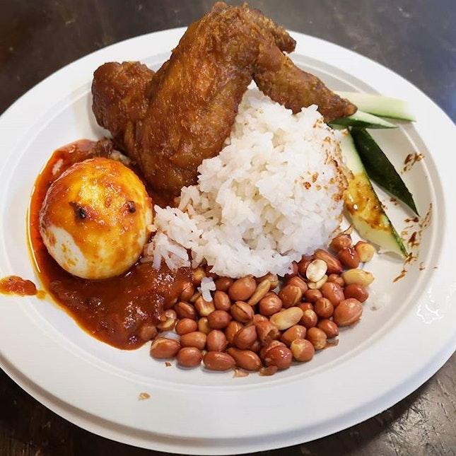 Expensive nasi lemak 😂 at Malsysian Food Street RWS.