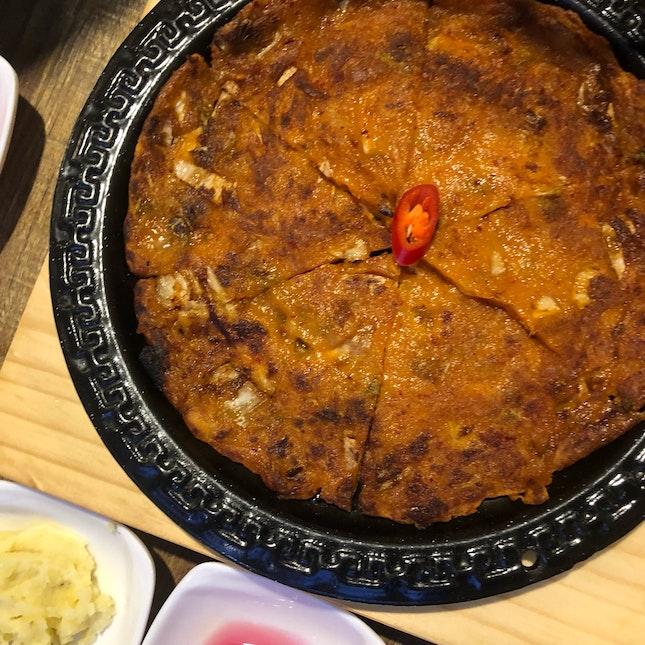 Kimchi Pancake ($8)