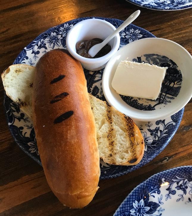 Toasted Sourdough Milk Bun with Housemade Kaya ($3.50)