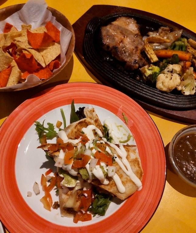 Chicken Burrito & Grilled Pork