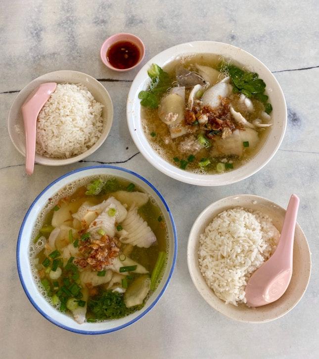 Batang Fish Soup ($6) & Pomfret Fish Soup ($11)