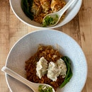 Homemade Wanton Dry Noodle ($8.90), Sichuan Spicy Wanton Dry Noodle ($8.90)