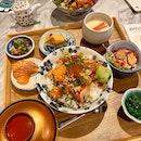 Omote Chirashi Don ($12.80) & Spicy Dashi Chirashi ($17.80)
