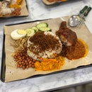 Nasi Lemak w/ Ayam Goreng Berempah - Drumstick ($6)