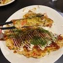 Seiwaa Signature Okonomiyaki - Pork, Squid, Shrimp ($18)
