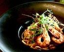Garlic Prawn Spaghetti
