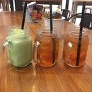 Green Tea Smoothie And Iced Tea