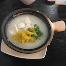 Sliced Fish Congee In Claypot