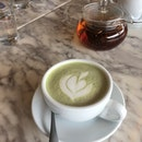 Matcha Latte & Pot Of Tea