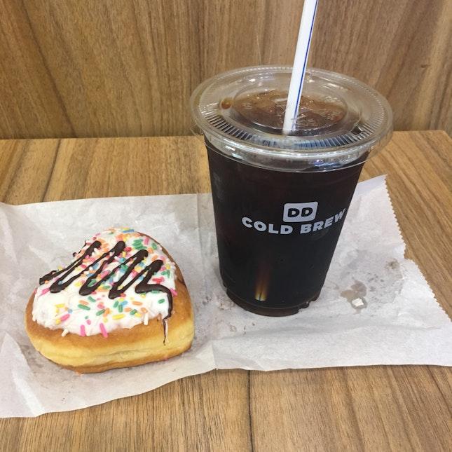 Cold Brew + Donut