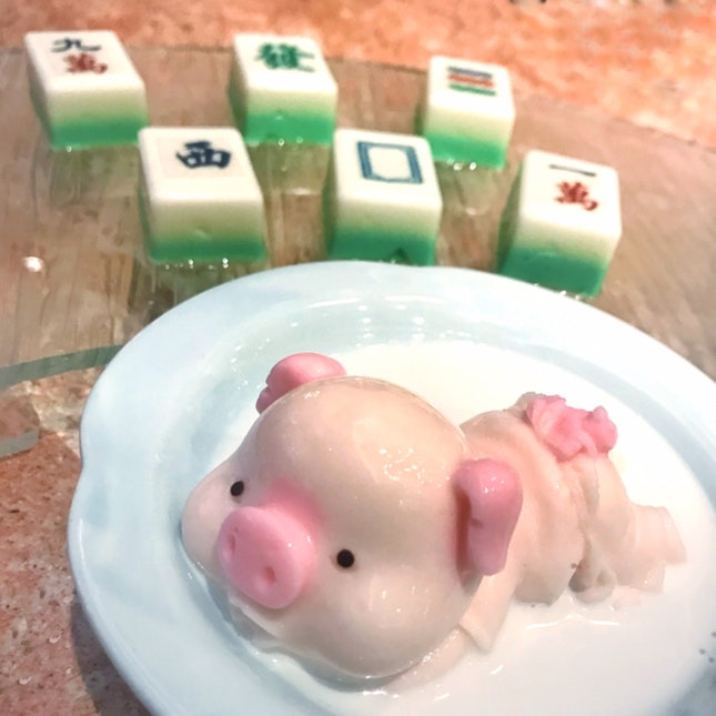 Mahjong Pudding + Piggy Pudding