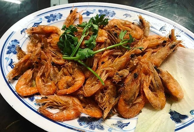 Deep Fried Baby Shrimps ($20 for Large) .