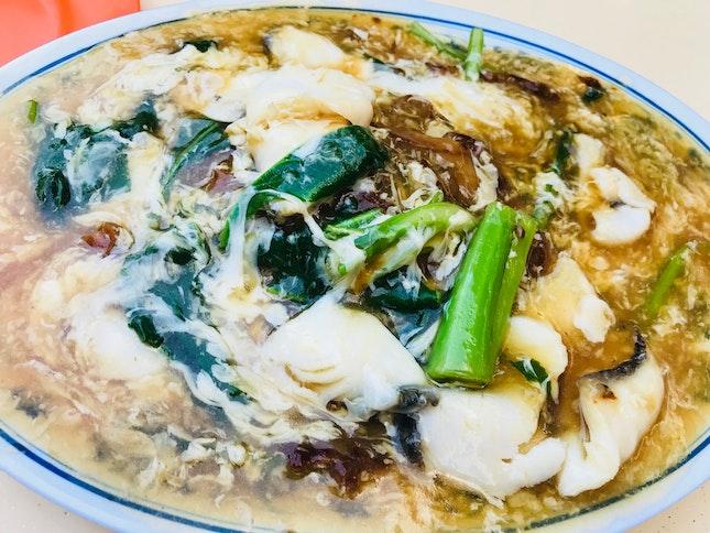Fish Horfun In Egg Gravy