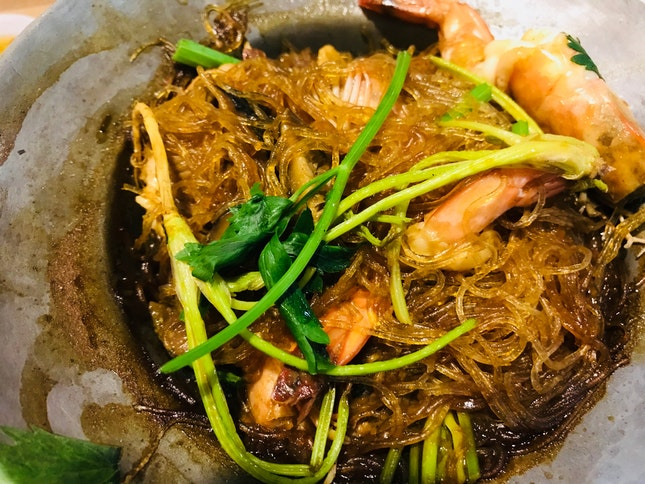 Claypot Tang hoon With Prawns