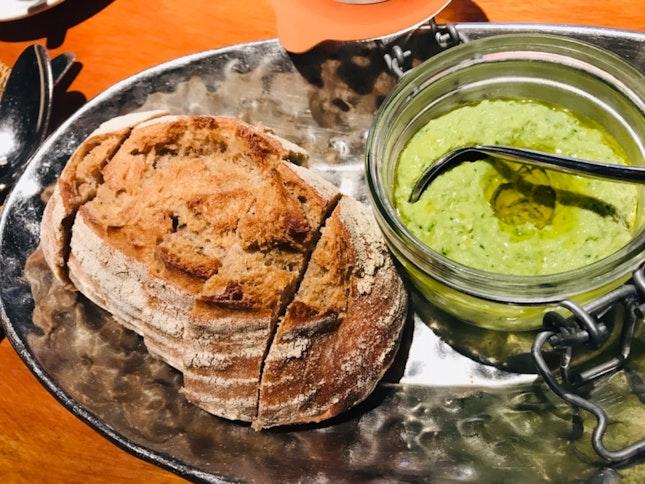 Sourdough Bread And Artichoke Dip