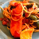 Gluten Free Grilled Vegetables Pasta