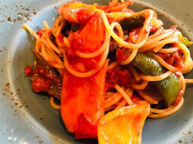 Gluten Free Grilled Vegetables Pasta
