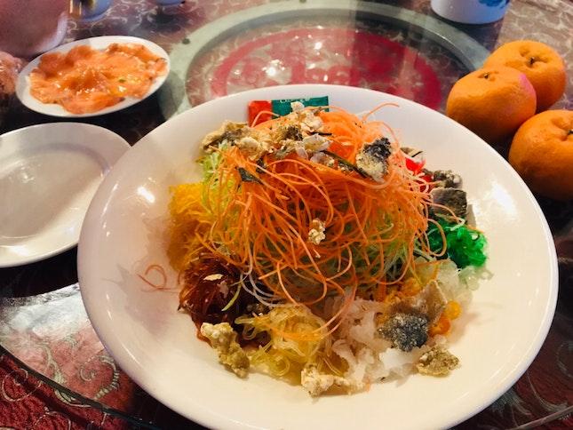 House Yu Sheng With Crisp Fish Skin